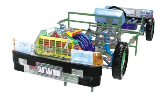桑塔纳透明整车模型